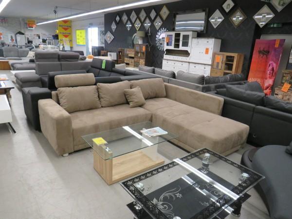Sofa L Form Garnitur Couch mit Schlaffunktion und Bettkasten