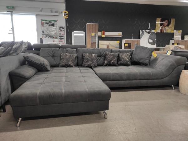Wohnlandschaft Couch Sofa grau L Form Möbel Wurm wohnen