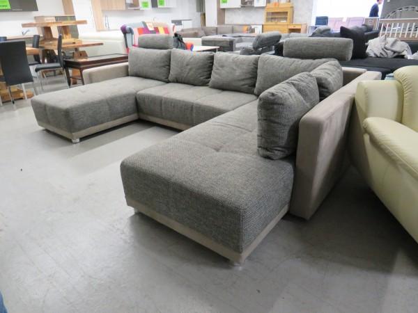 Wohnlandschaft Couch Sofa U Form mit Schlaffunktion und Bettkasten