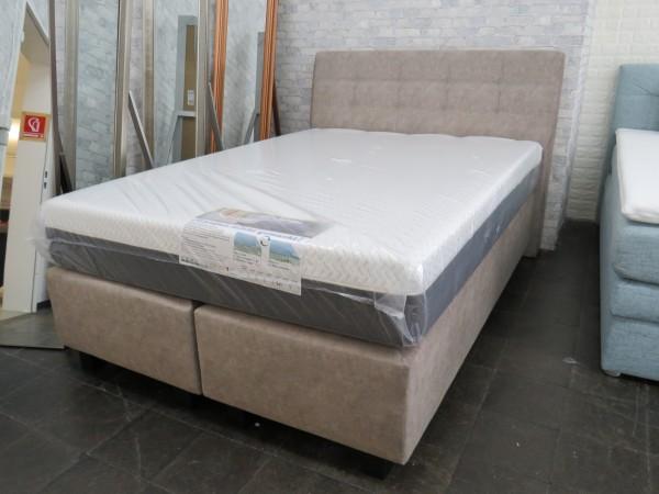 Boxspringbett 140x200 cm mit Matratzen und Topper