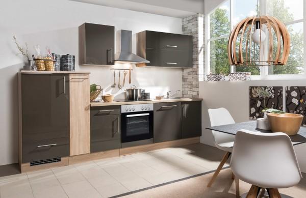 Küche Küchenzeile Küchenblock Jana 310 cm inkl. E Geräte