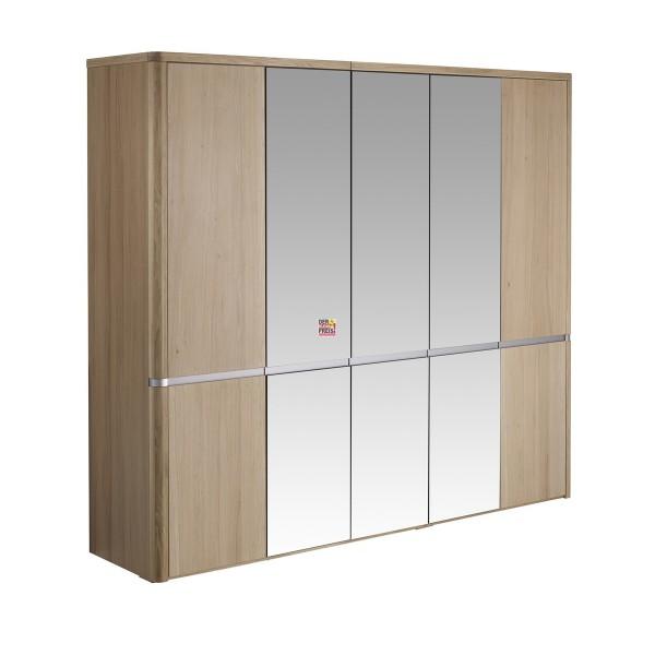 Kleiderschrank 5-türig Eiche/massiv Spiegel Schlafzimmer