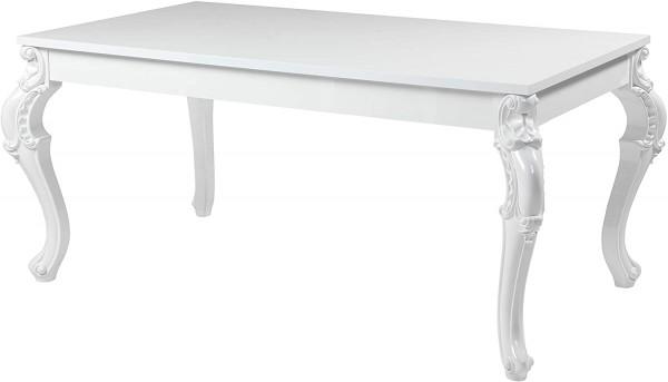 Tisch Esstisch Küchentisch kratzfester Speziallack 90x160 cm weiß