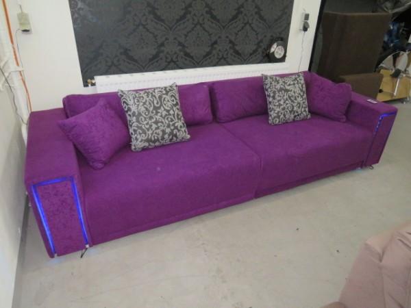 LED Big Sofa BIGSOFA Couch Garnitur Wohnlandschaft