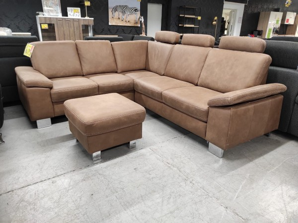 XXL Wohnlandschaft Sofa Echt Leder braun wohnen Möbel Wurm