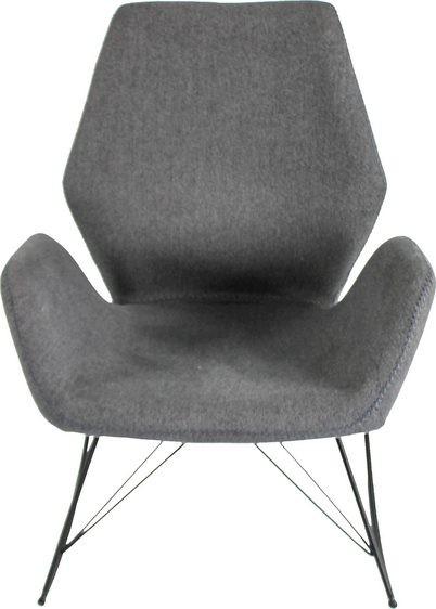 Schaukelstuhl Sessel grau Wohnzimmer