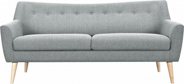 3-Sitzer mit Knopfheftung im Rücken grau