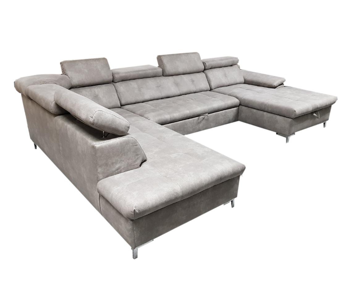 wohnlandschaft xxl mit schlaffunktion bettkasten grau 10. Black Bedroom Furniture Sets. Home Design Ideas