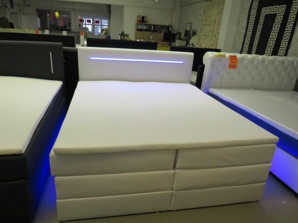 LED Bett Boxspringbett Ehebett mit Bettkasten 180x200 cm