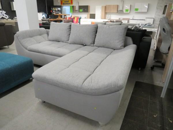 Sofa Couch L Form grau Wohnzimmer Garnitur