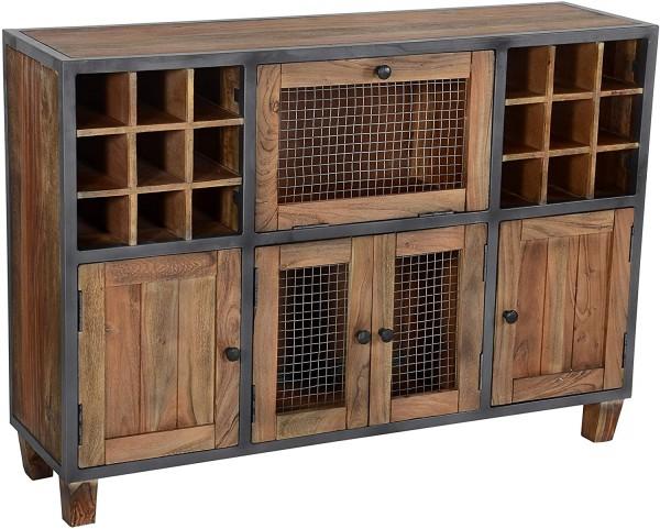The Wood Times Weinbar 'Hutch', Holz, 127x35x90cm