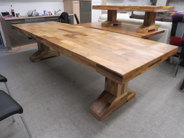 XXL Tisch Esstisch 100 x 300 cm Teilmassiv Möbel Wurm