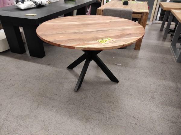 Tisch Esstisch Massivholz Akazie Baumkantentisch rund