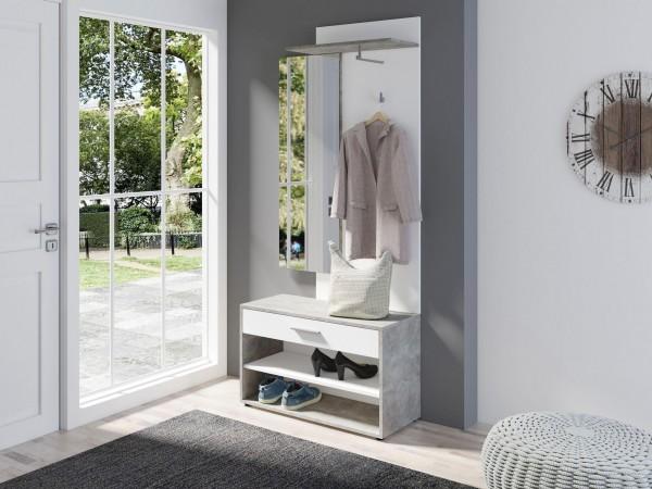 Garderoben-Set »Janus«, (3-tlg) beton/weiß