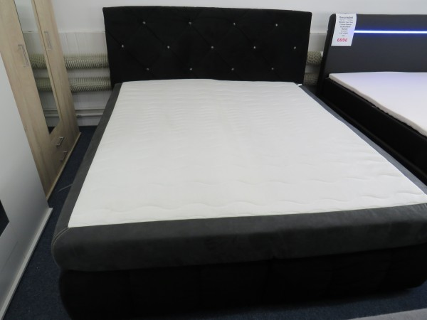 Bett Boxspringbett Schlafzimmer mit Strass 180x200 cm