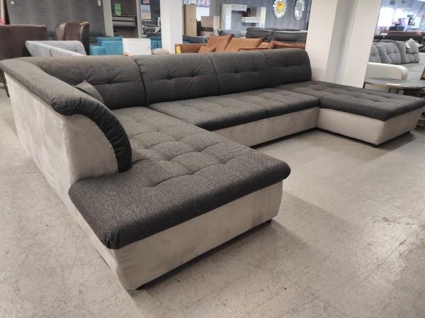 XXL Wohnlandschaft mit Schlaffunktion Couch Sofa