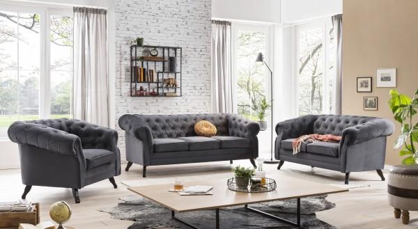 Chesterfield Sofa Couch Garnitur 3 2 1 Kombination Möbel Wurm