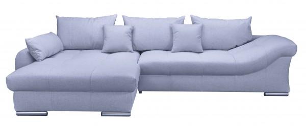 Wohnlandschaft Sofa Samtbezug grau Möbel Wurm