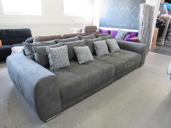 Big Sofa BIGSOFA Couch Garnitur Wohnlandschaft grau
