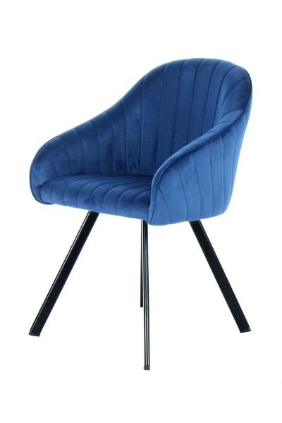 Stuhl Schalenstuhl blau Esszimmer Esszimmerstuhl Möbel Wurm